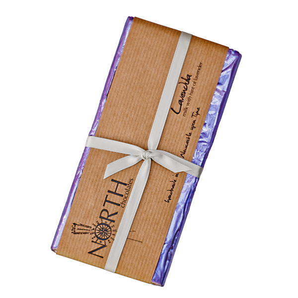 Lavender Milk Chocolate Bar | North Chocolates
