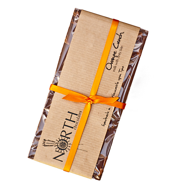 orange cruch milk chocolate bar