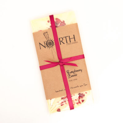 raspberry beret white chocolate bar